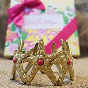 Lilly Pulitzer Gold Starfish Stretch Bracelet